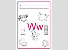 Letter W Worksheets for Kindergarten Preschool and