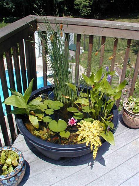 mini ponds balcony ideas