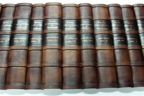 Antique Home Interior - handbinding faux fake false books leather replica antique spines book panels