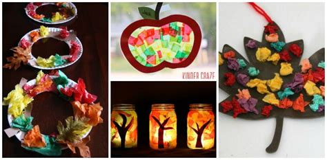 12 fall crafts for using tissue paper where 813 | fall crafts for preschool with tissue paper