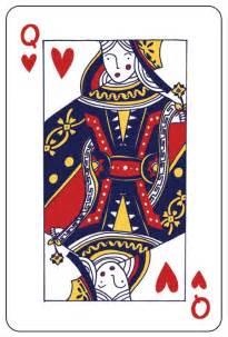 Queen Hearts Playing Card