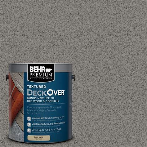 Behr Premium Deck Stain Home Depot by Behr Premium Deckover 5 Gal Pfc 63 Slate Gray Wood And