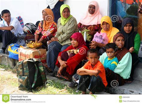 muslim people waiting   transport editorial image