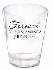 300 wedding favors personalized romantic plastic shot by for Wedding favor shot glasses personalized