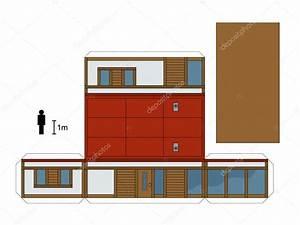 maquette en papier d39une maison basse image vectorielle With maquette d une maison