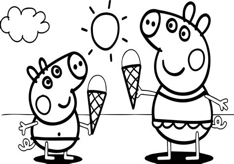 Peppa Pig Video Free Coloring Page Wecoloringpage com