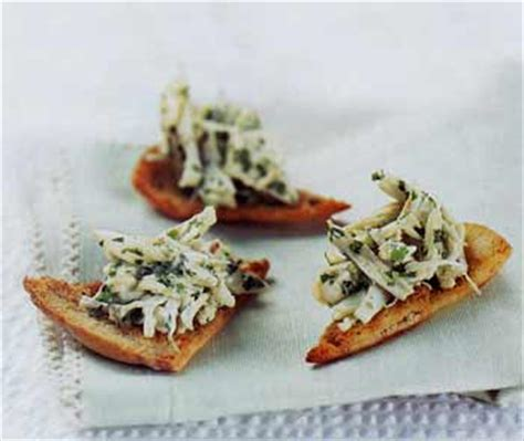 crab canapes crab canapés with cumin recipe epicurious com