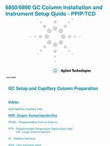Agilent Gc Setup