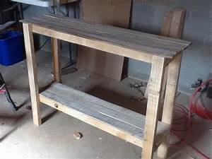 Pallet Sofa Table - Hall Table Pallet Furniture DIY