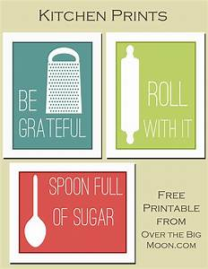 Fun kitchen printables over the big moon for Kitchen colors with white cabinets with free christmas wall art printables