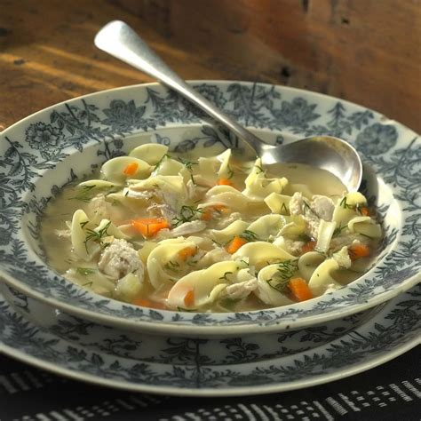 chicken and dill soup chicken noodle soup with dill recipe eatingwell