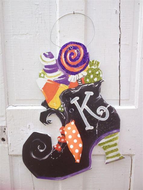 Witch Boot Halloween Door Hanger  Holidays Pinterest
