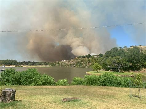 frightening evacuations lifted  fire