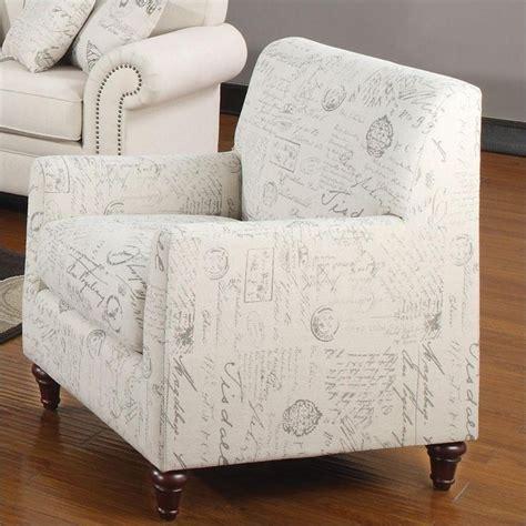 script accent chair coaster norah accent arm chair in white script 502513