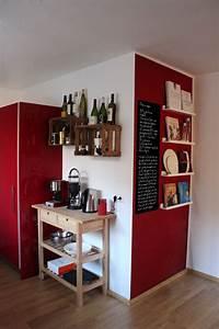 Küche Deko Wand : k che raumgestaltung rote k che und einrichtungsideen ~ A.2002-acura-tl-radio.info Haus und Dekorationen
