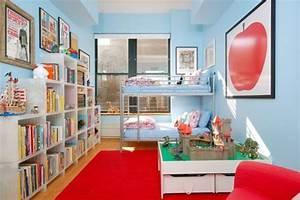 chambre rouge et bleu solutions pour la decoration With chambre garcon bleu et rouge