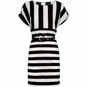 robes elegantes france robe noir et blanc rayee With robe rayée noir et blanc