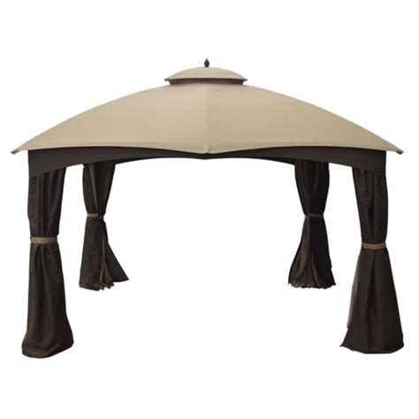 allen and roth gazebo allen roth 10 x 12 ft beige brown curtain canopy gazebo