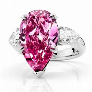 Pink diamond rings wedding promise diamond engagement for Wedding rings with pink