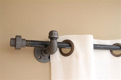 pipe curtain rod industrial iron pipe curtain rods drapes valance bronze nickel