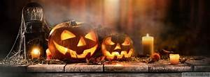 Halloween, Pumpkins, With, Candles, Facebook, Cover