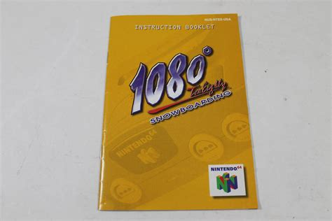 Manual 1080 Snowboarding Nintendo N64