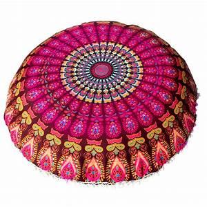 Iuhan, Large, Mandala, Floor, Pillows, Round, Bohemian, Meditation, Cushion, Cover, Ottoman, Pouf