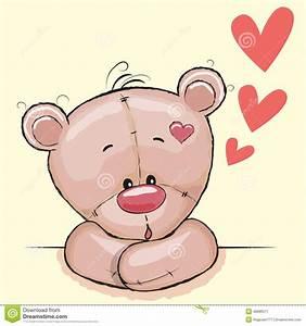 Cute Bear Cartoons In A Heart Vector Illustration ...