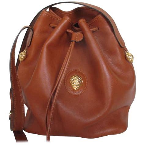 lancel paris brown leather shoulder bag  stdibs
