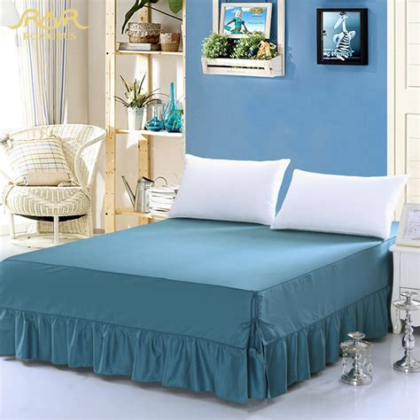 38269 king size bed skirts romorus 100 cotton solid color king size navy