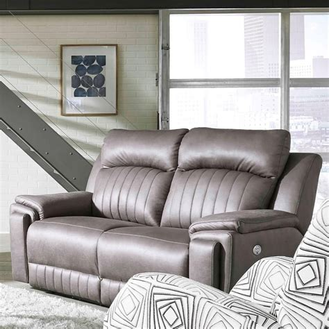 Southern Motion Loveseat Recliner by Southern Motion Silver Screen Contemporary Power Headrest