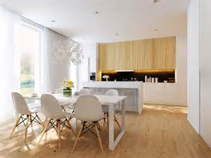 kitchen and dining interior design white dining area and white open kitchen interior design ideas