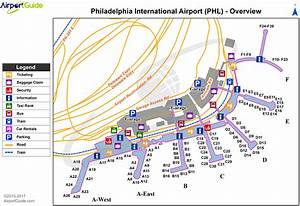 Philadelphia - Philadelphia International  Phl  Airport Terminal Map
