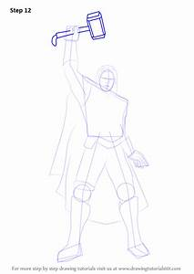 Learn How To Draw Thor Thor Step By Step Drawing Tutorials