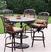 Patio Furniture Pub Table Sets by Shop Darlee 5 Piece Elisabeth Cushioned Cast Aluminum Patio Bar Height Set At
