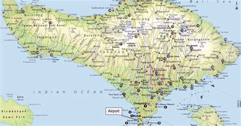 indonesia attractions map  bali