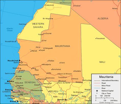 Mauritania Map and Satellite Image