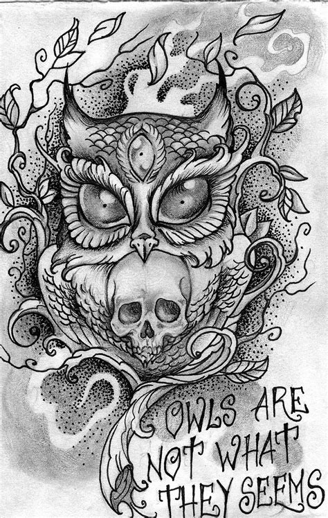 #owlarenotwhattheyseems #owl #thirdeye #dotwork #blackwork