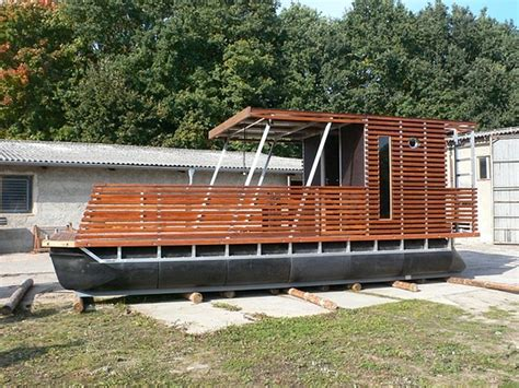 Houseboat Wood by Wooden Pontoon Boats