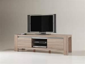 Meuble Tv Bois Massif Moderne : meuble tv bois massif moderne ~ Teatrodelosmanantiales.com Idées de Décoration