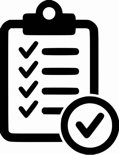 Icon Check Clipart Approved Form Transparent Clip