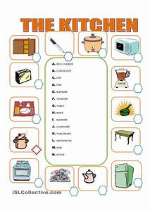 Furniture in the kitchen english for children for Kitchen furniture words