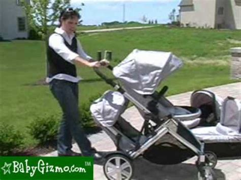 baby gizmo britax  ready stroller  doubles mode review