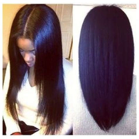 Types Of Sew In Hairstyles by Middle Part Sew In Tap For Hair Details Hairrrr In