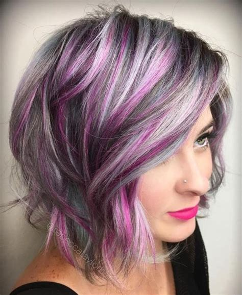 With Pink Highlights Hairstyles by 35 Of The Best Pink Highlight Hairstyle Ideas To Slay