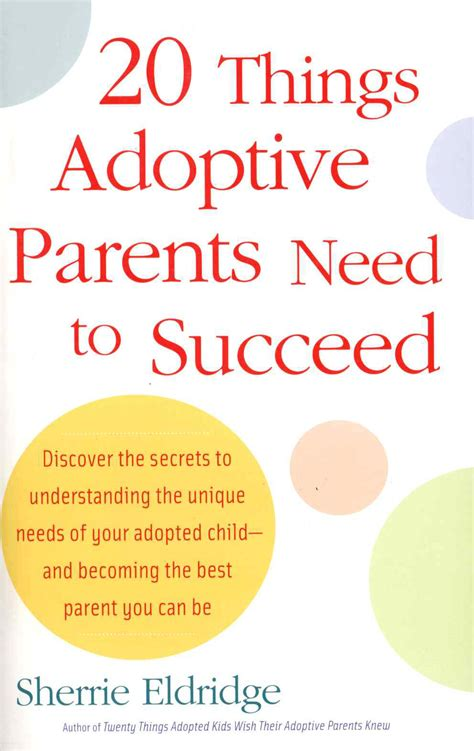 Teachade Store  20 Things Adoptive Parents Need To Succeed