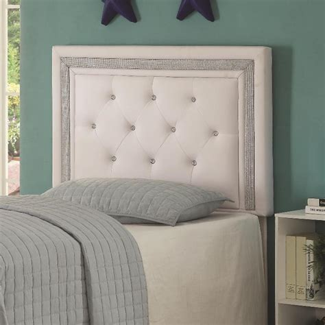 White Headboard With Crystals by Andenne Headboard Tufting With Faux