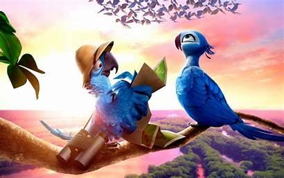 Rio Wallpapers Cartoon Move Birds Leave