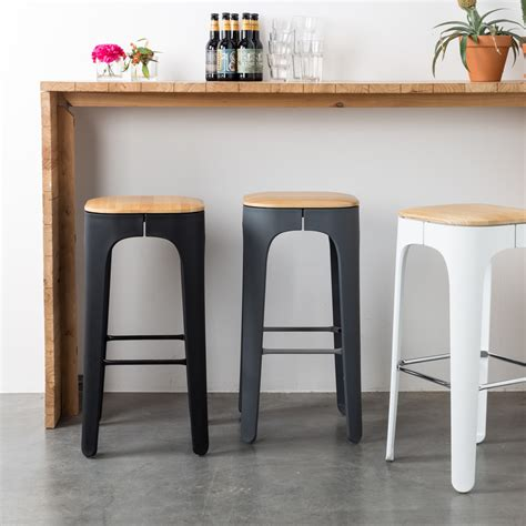 cuisine living tabouret de bar bois up high by drawer