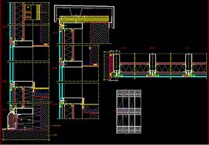 Curtain Wall DWG Detail for AutoCAD • Designs CAD